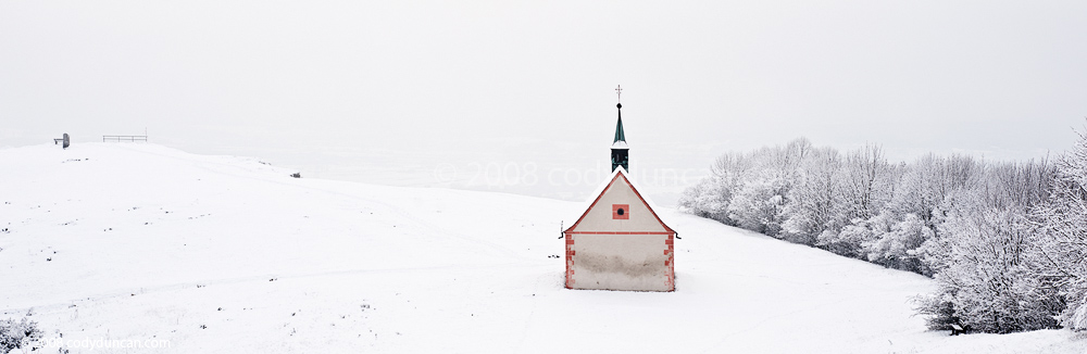 German winter stock photo: Walpurgiskapelle, Saint Walpurga's chapel, Walberla, Germany. Cody Duncan travel stock photography