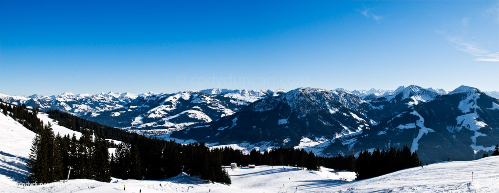 Panoramic photo: Brixen in Thale in winter, Tyrol, Austria