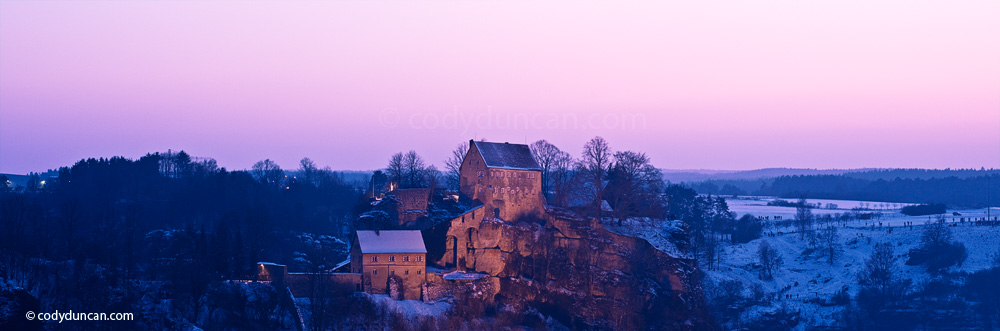 Germany travel stock image: Panoramic photo of Burg Pottenstein, Franconia, Bavaria, Germany. Cody Duncan Photography