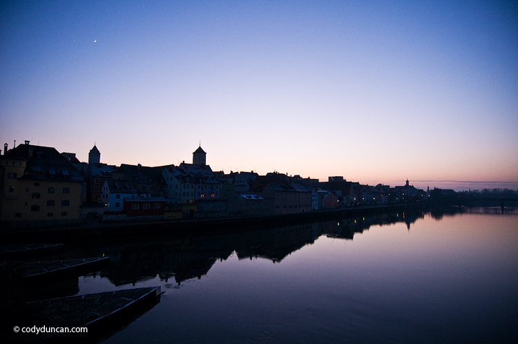 Germany travel photo: Danube river and Regensburg, Germany. Cody Duncan Photography