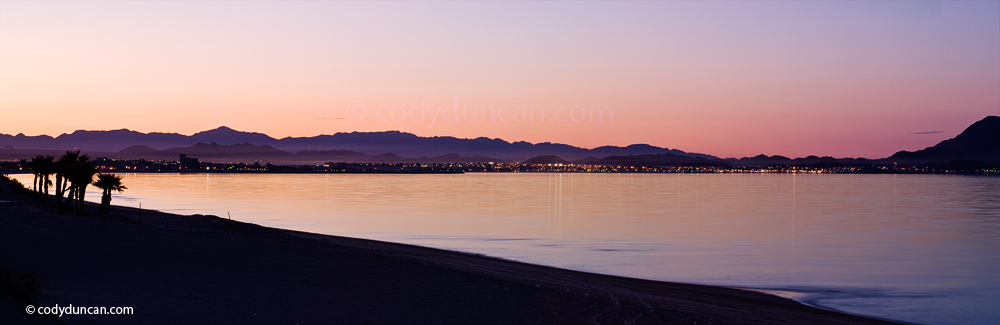 Panoramic stock photo: San Felipe and sea of Cortez, Baja California, Mexico