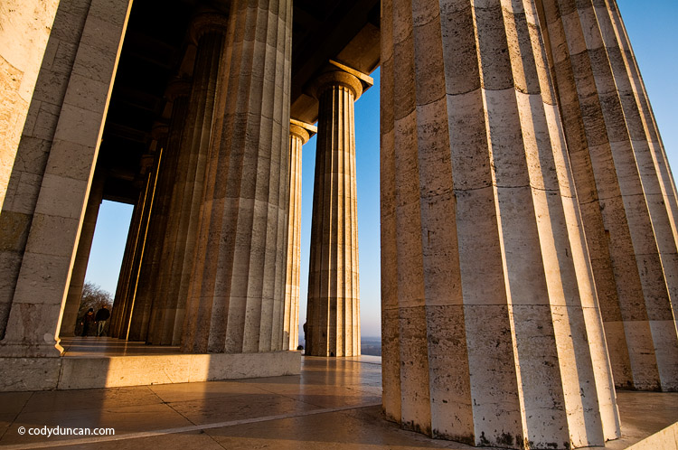 Germany travel stock image: photo of Walhalla temple near Regensburg, Oberpfalz, Bavaria, Germany. Cody Duncan photography