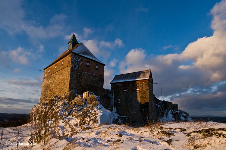 Germany stock photography: Burg Hohenstein castle in winter, Mittelfranken - Bavaria, Germany