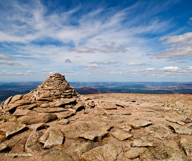 Cairngorms, Scotland: Summit cairn on Cairn Gorm. Cody Duncan photoCairngorms, Scotland: Summit cairn on Cairn Gorm. Cody Duncan photo