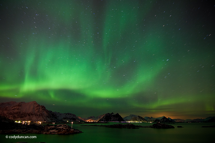 Northern lights over lofoten islands, Norway. Cody Duncan photography