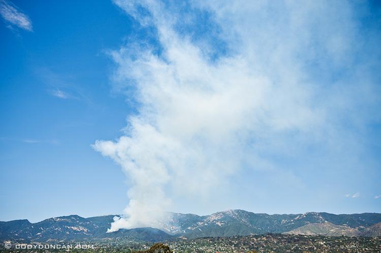 Jesusita fire santa barbara, May 5, 2009, 2:15pm viewed from Loma Alta dr. Cody Duncan Photography
