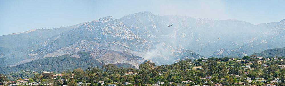 Photo of jesusita fire wednesday may 6, 2009, Santa Barbara, CA. Cody Duncan photography