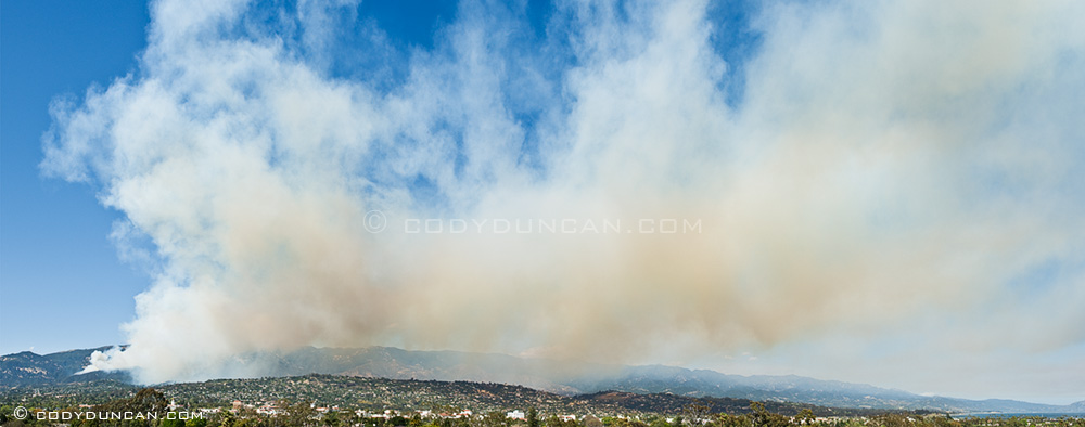 Jesusita fire santa barbara, May 5, 2009, 3:40pm viewed from Loma Alta dr. Cody Duncan Photography
