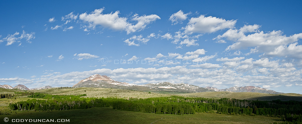 Panoramic landscape photography: Conway summit, Sierra Nevada mountains, California