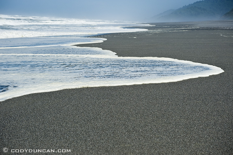 Gold Bluffs beach - Prairie Creek Redwoods state park, California