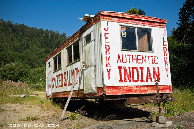 Old trailer, Klamath, California