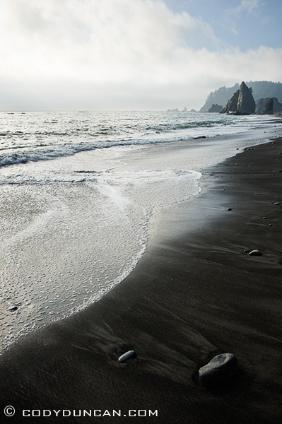 Travel landscape stock photography: Rialto Beach, Olympic national park, Washington