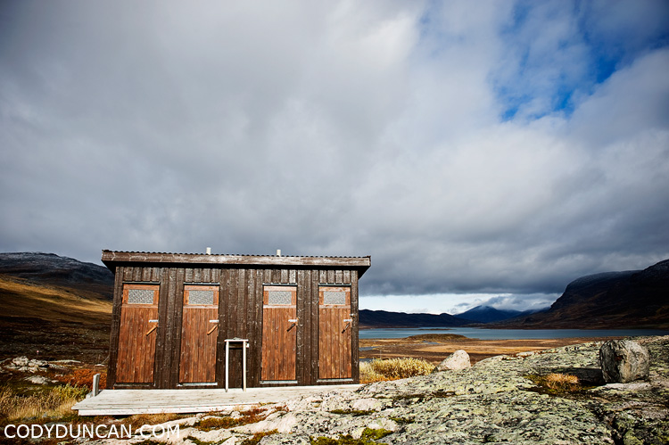 Kungsleden sweden travel photography: Alesjaure hut toilets