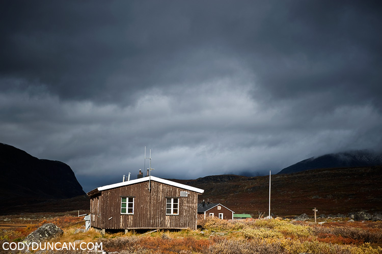 Kungsleden sweden travel photography: Singi hut