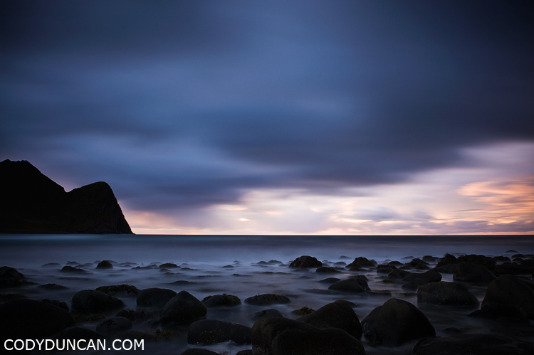 Unstad beach, Lofoten islands, Norway: travel landsacpe photography