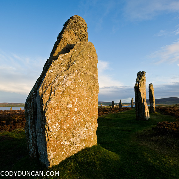 Ring of Brodgar standing stones, Orkney, Scotland - Cody Duncan photogapher