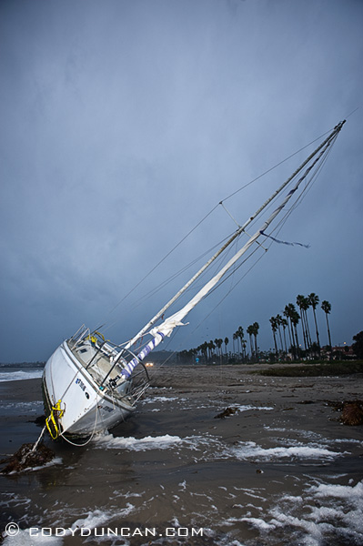 Winter storm 2009, East Beach Shipwreck, Santa Barbara California