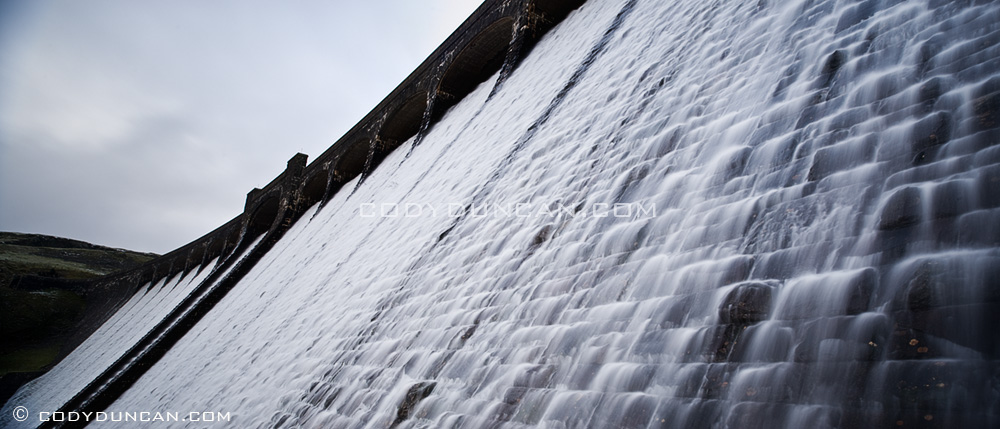 Panoramic photo: Claerwen Dam, Elan Valley, Wales