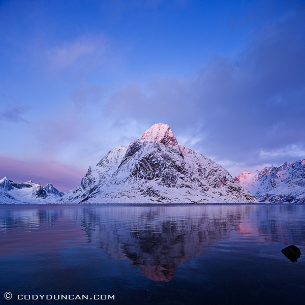 Landscape travel stock photography: Kjerkefjorden, Reine, Lofoten islands, Norway