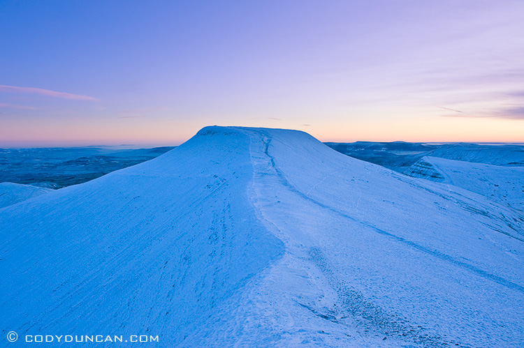 Pen Y Fan at dawn winter snow, Brecon Beacons, Wales