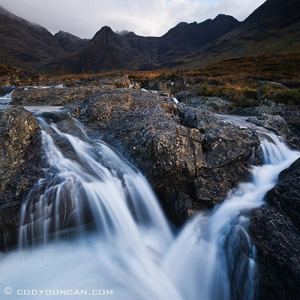 Waterfall at Fairy Pools, Coire na Creiche, Isle of Skye, Scotland