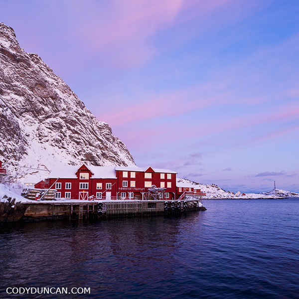 Å I lofoten, Lofoten islands, Norway. Winter travel photography