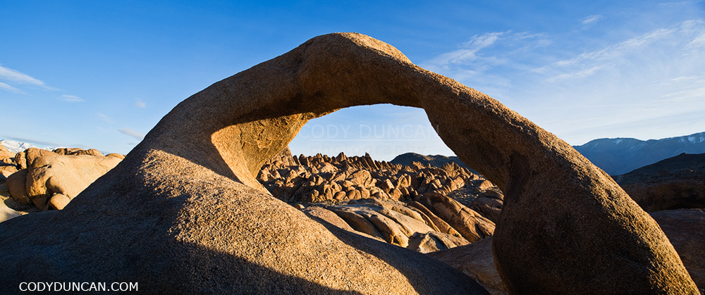 Mobius arch at Alabama Hills, near Lone Pine, California
