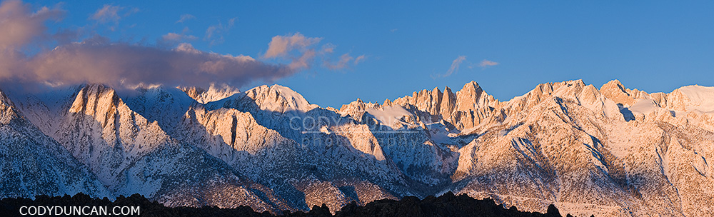 Mt. Whitney and Sierra Nevada mountains, California panoramic landscape photo