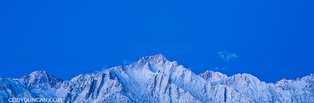 Lone Pine peak and Sierra Nevada mountains panoramic image