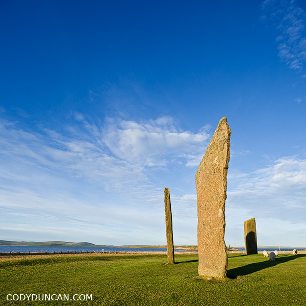Stenness standing stones, Orkney landscape photography