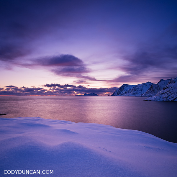 A I Lofoten in winter, Lofoten Islands, Norway