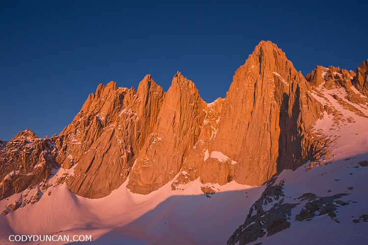Mountain landscape photography - East face of Mount Whitney sunrise