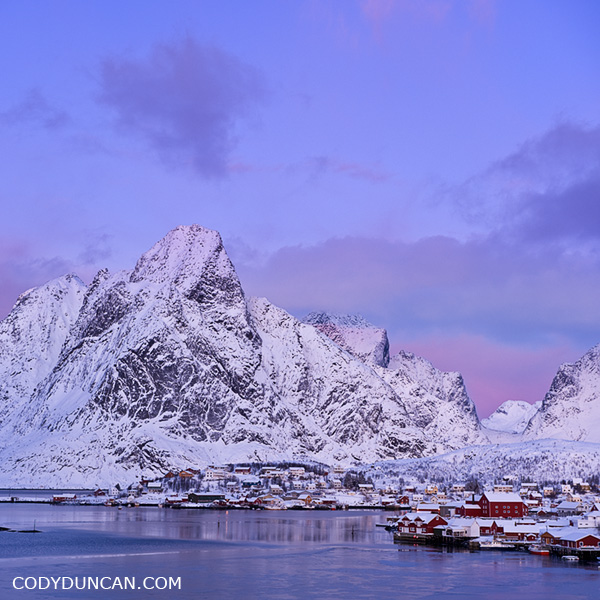 Reine in Winter, Lofoten Islands, Norway