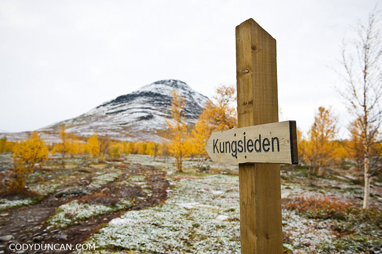sign kungsleden trail sweden