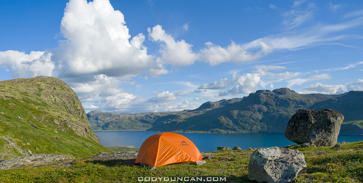 Summer Wild Camping and Backpacking, Jotunheimen, Norway