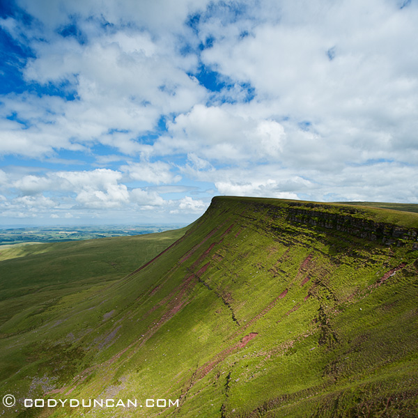 Black Mountain Landscape, Brecon beacons national park, Wales