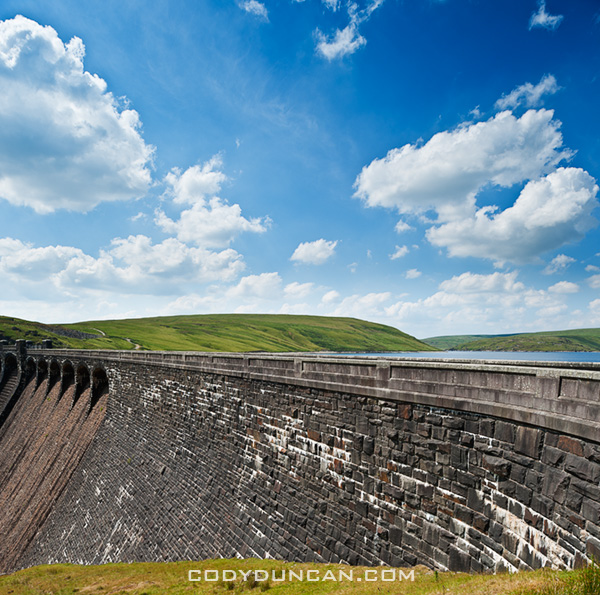 Welsh stock photography: Claerwen Reservoir, Elan Valley, Wales