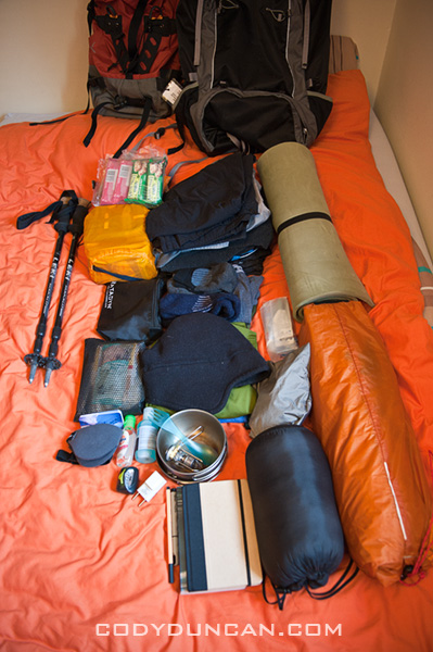 Backpacking packlist for Norway