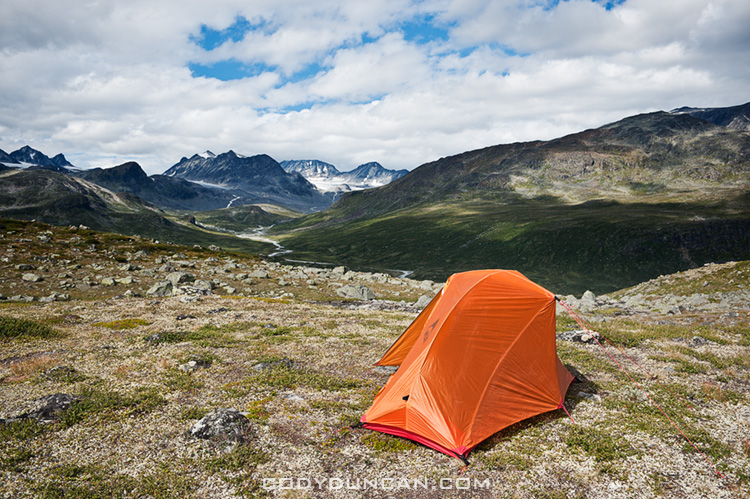 wild camping Jotunheimen national park, Norway