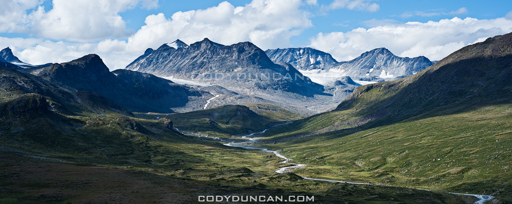 Memurudalen panoramic landscape, Jotunheimen national park, Norway