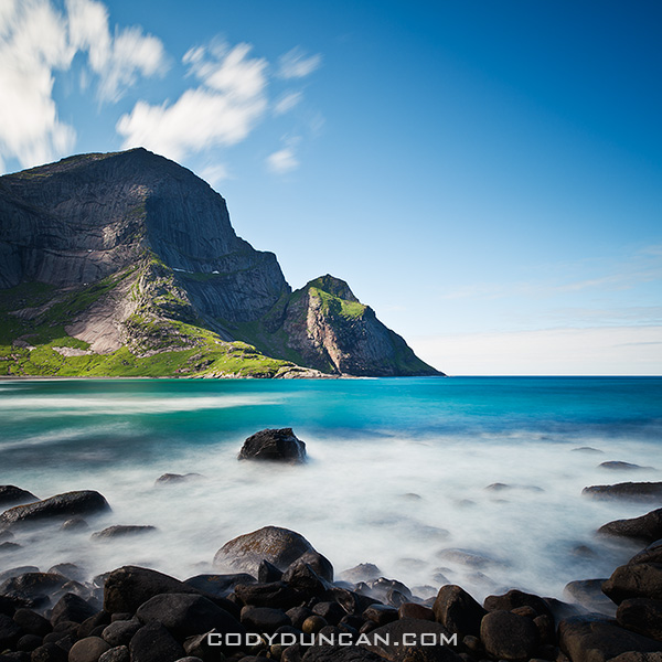 Neutral Density long exposure, Bunes beach, Moskenesoy, Lofoten islands, Norway
