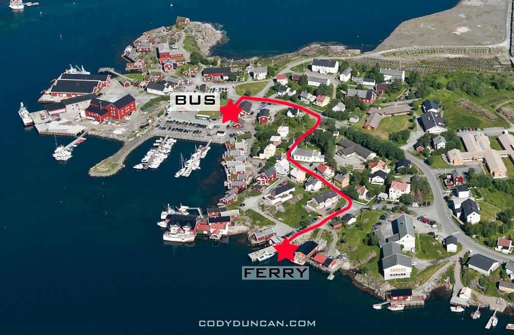 Reine ferry directions