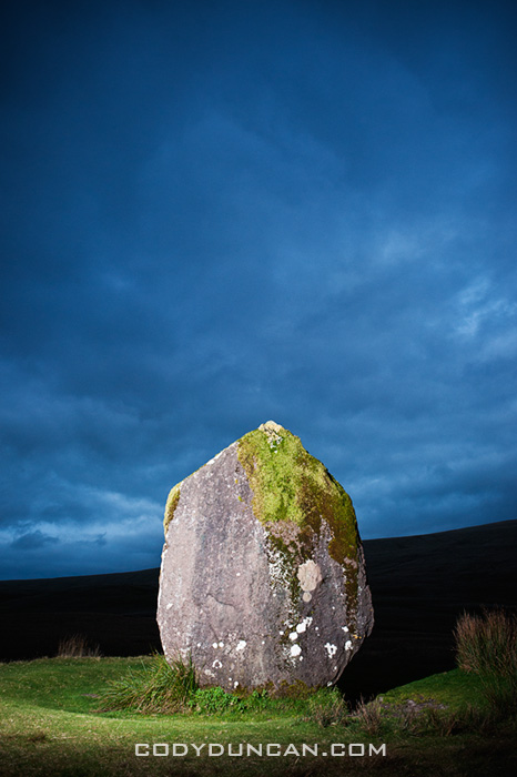 Maen Llia standing stone, Brecon Beacons national park, Wales