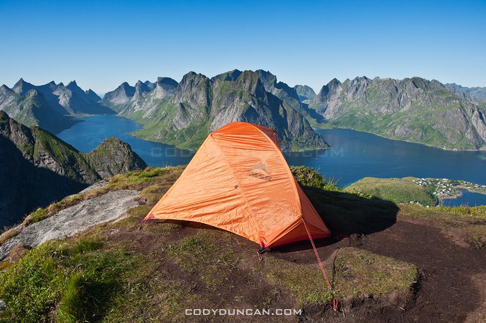 Reineibringen camping lofoten islands