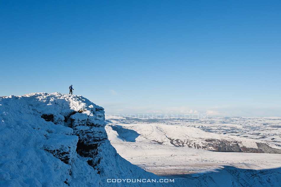 Brecon beacons november UK snow