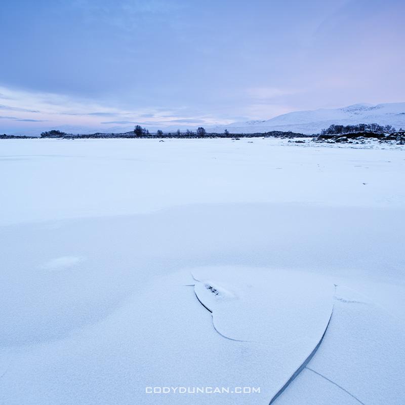 Loch Ba ice, Rannoch Moor, Scotland