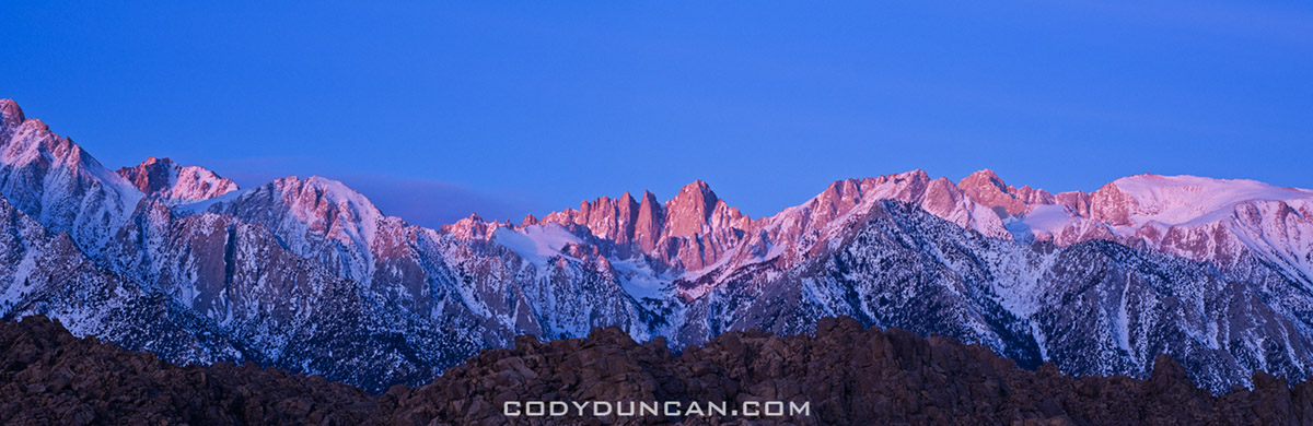 mount whitney sunrise panorama