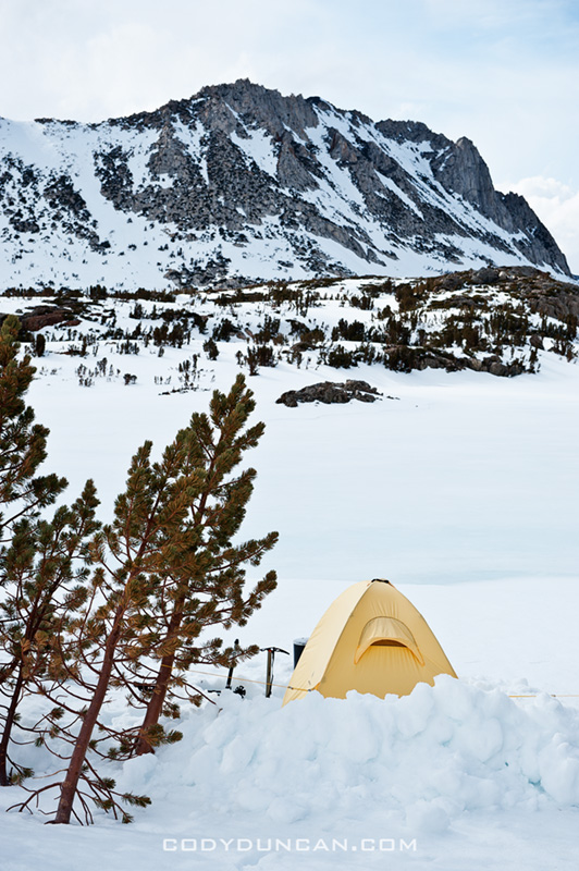winter camping sierra nevada mountains