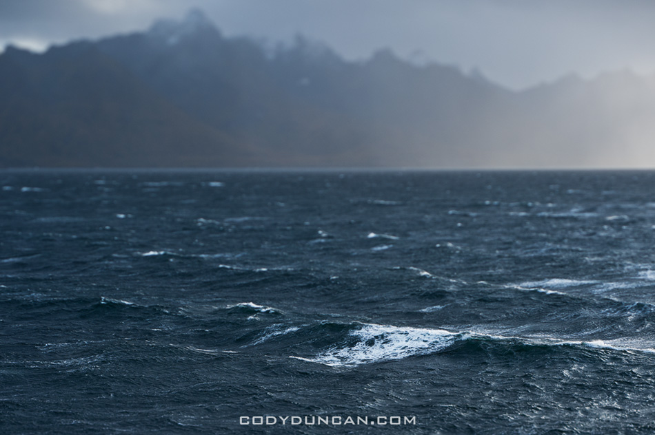 Stormy seas of Hadselfjord, Vesteralen, Norway