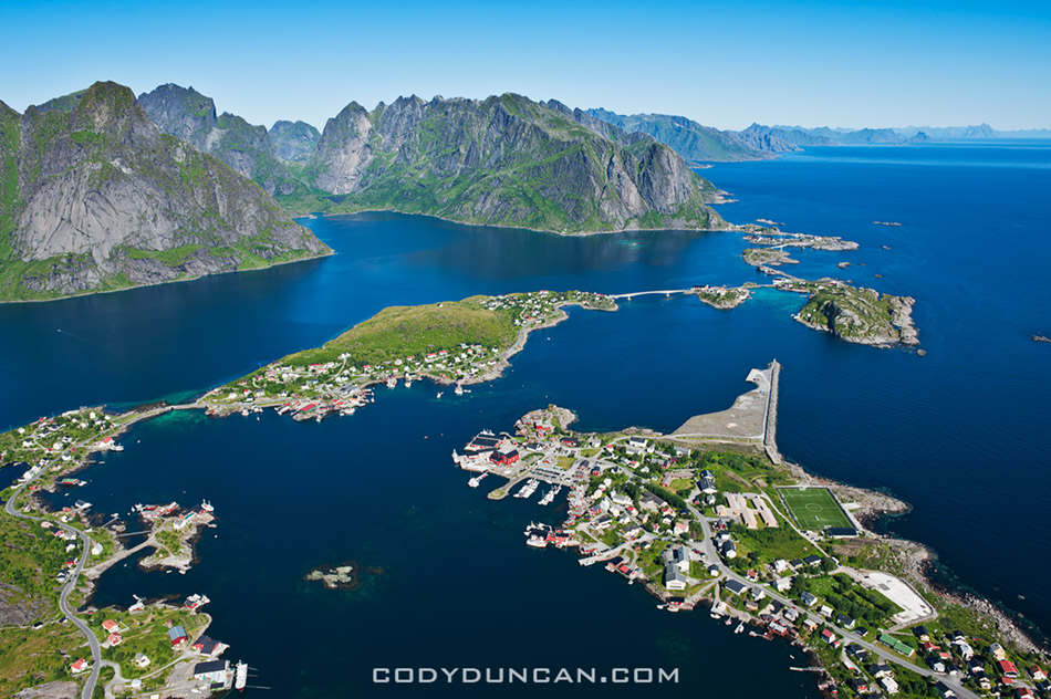 Reinebringen view Lofoten islands
